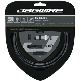 Jagwire 1X Elite Sealed Stealth Set Cavo Del Cambio, stealth black